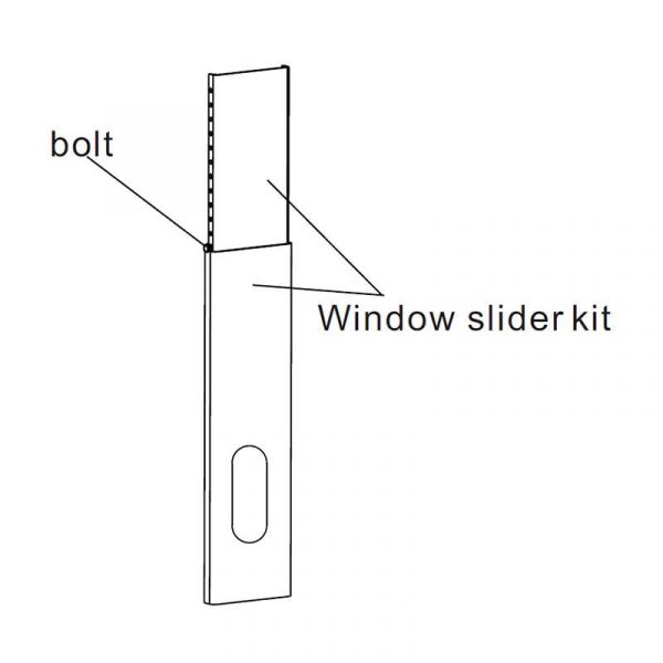 Raamafdichting window slider kit + slang