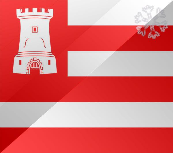 De vlag van Alkmaar