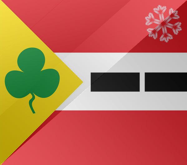 De vlag van Appelscha