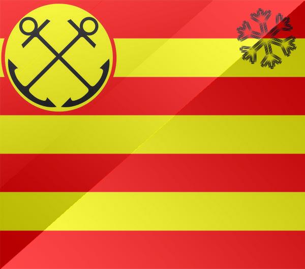 De vlag van Den helder