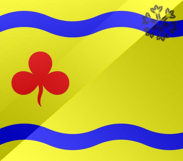 De vlag van Hardenberg