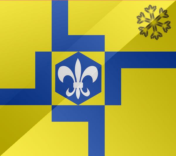 De vlag van Lelystad
