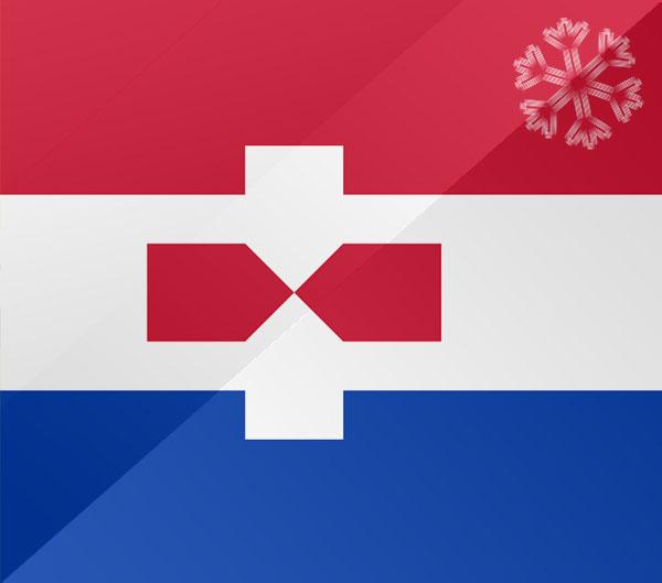 De vlag van Zaandam