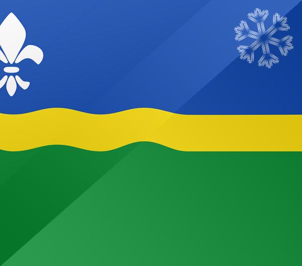 De vlag van Flevoland