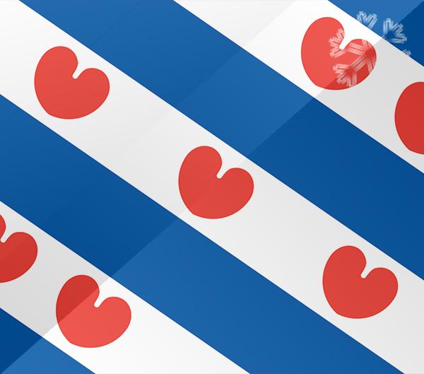 De vlag van Friesland