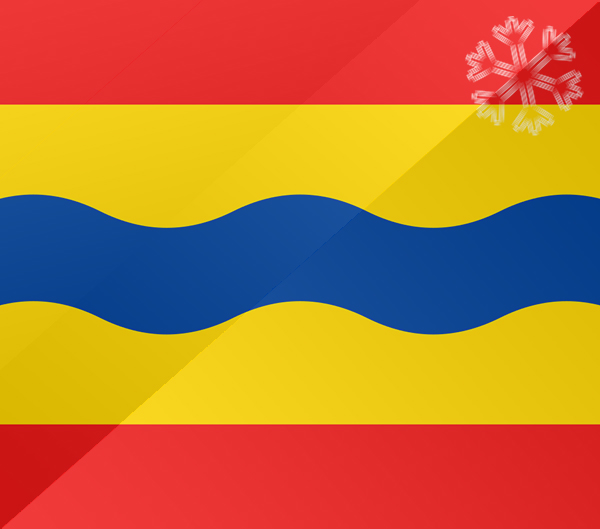 De vlag van Overijssel