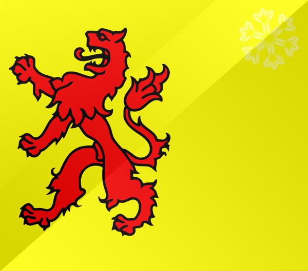 De vlag van Zuid-Holland